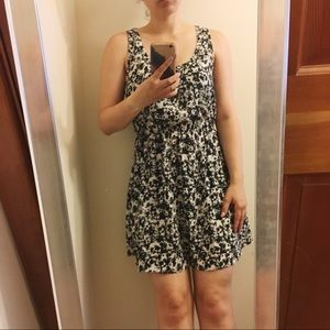Cotton On Floral Black and White Dress